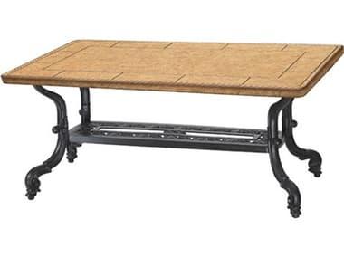Gensun Florence Cast Aluminum 44 x 24 Rectangular Coffee Table Base GES10230KF5