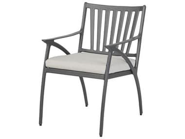 Gensun Amari Cushion Aluminum Carbon Dining Arm Chair GES10250001