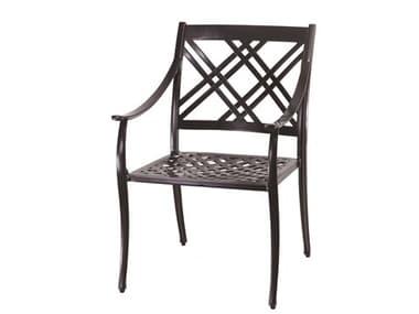 Gensun Edge Aluminum Cushion Dining Arm Chair GES10270001