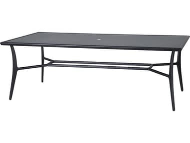 Gensun Fusion 86''W x 42''D Rectangular with Aluminum Top Dining Table with Umbrella Hole GES103000C3
