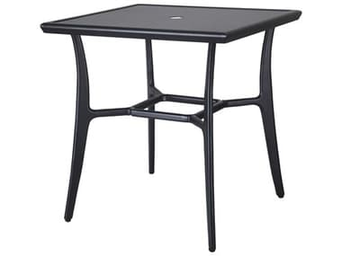 Gensun Fusion 30'' Wide Square with Aluminum Top Dining Table with Umbrella Hole GES10300D30