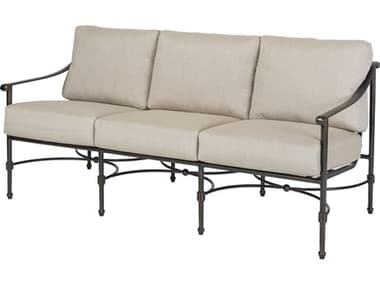 Gensun Morro Bay Ii Cast Aluminum Cushion Sofa GES1032PB23