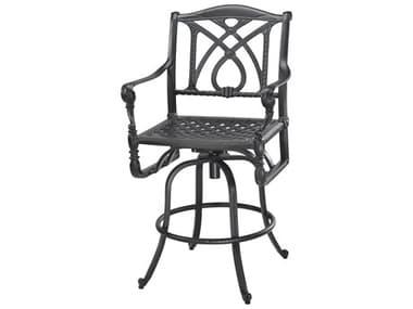 Gensun Grand Terrace Cast Aluminum Cushion Swivel Bar Stool GES10340007
