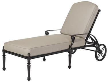 Gensun Grand Terrace Cast Aluminum Cushion Chaise Lounge GES10340009