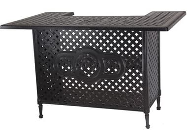 Gensun Grand Terrace Accessories Cast Aluminum 65 x 41 Rectangular Bar Table GES1034000W
