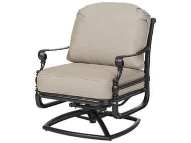 Gensun Grand Terrace Cast Aluminum Cushion Swivel Rocking Lounge Chair GES10340024