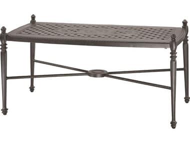 Gensun Grand Terrace Cast Aluminum 42''W x 21''D Rectangular Coffee Table GES103400F1