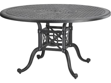 Gensun Grand Terrace Cast Aluminum 48'' Wide Round Dining Table with Umbrella Hole GES10340A48