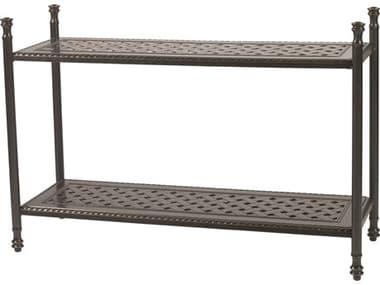Gensun Grand Terrace Accessories Cast Aluminum 47.5 x 17 Rectangular Console Table GES10340CT1
