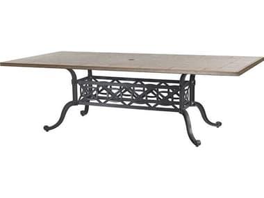 Gensun Grand Terrace Cast Aluminum 86 x 42 Rectangular Dining Table Base GES10340KC3
