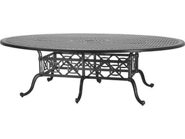 Gensun Grand Terrace Cast Aluminum 102''W x 72''D Geo Counter/ Gathering Table with Umbrella Hole GES10340NJ2