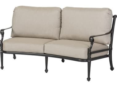 Gensun Grand Terrace Cast Aluminum Cushion Curved Loveseat GES1034CV22