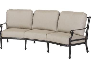 Gensun Grand Terrace Cast Aluminum Cushion Curved Sofa GES1034CV23