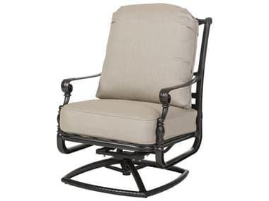 Gensun Grand Terrace Cast Aluminum Cushion High Back Swivel Rocking Lounge Chair GES1034HB24