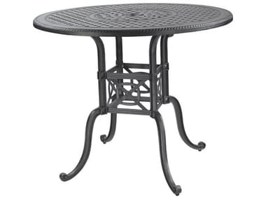 Gensun Grand Terrace Cast Aluminum 48'' Wide Round Counter / Gathering Table with Umbrella Hole GES1034NA48