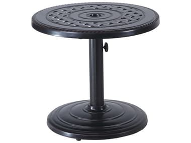 Gensun Grand Terrace Cast Aluminum 24'' Wide Round Umbrella End Table GES1034PE24