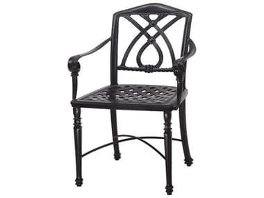 Gensun Terrace Cast Aluminum Cushion Cafe Chair With Arms - Knock Down GES10350001