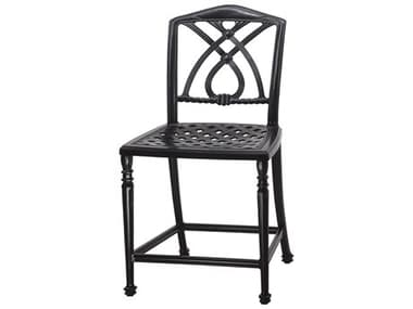 Gensun Terrace Cast Aluminum Cushion Stationary Balcony Stool without Arms - Welded GES10350016