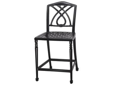 Gensun Terrace Cast Aluminum Cushion Stationary Bar Stool without Arms - Welded GES10350017