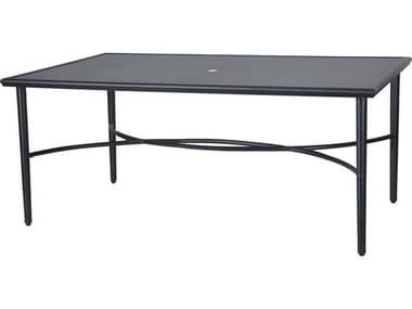 Gensun Talia 63''W x 42''D Rectangular with Aluminum Top Dining Table with Umbrella Hole GES104400C1