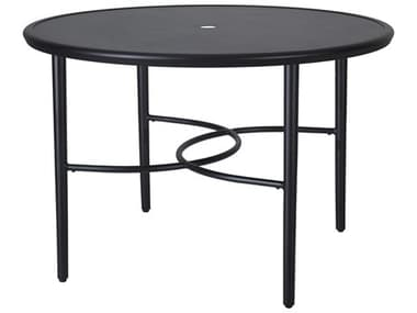 Gensun Talia 48'' Wide Round with Aluminum Top Dining Table with Umbrella Hole GES10440A48