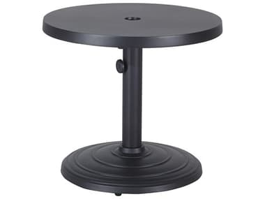 Gensun Meridian Aluminum 24'' Wide Round End Table with Umbrella Hole GES1045PE24