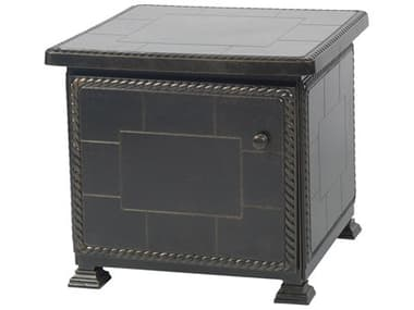 Gensun Paradise Storage Aluminum 24'' Wide Square Storage End Table GES1068SE24