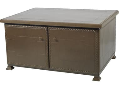 Gensun Paradise Storage Aluminum 48''W x 36''D Rectangular Storage Coffee/Chat Table GES1068SF01