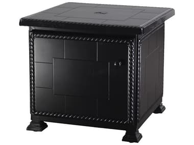 Gensun Paradise Storage Aluminum 24'' Wide Square Storage Umbrella End Table GES1068UE24