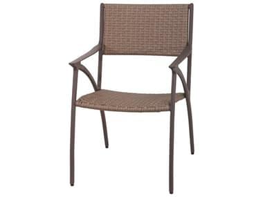 Gensun Amari Woven Aluminum Carbon Dining Arm Chair GES70250001
