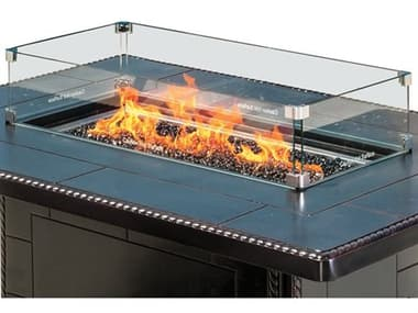 Gensun Rectangular Fire Pit Top Wind Screen GESACCEWSRE