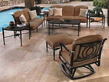 Gensun Bel Air Cushion Cast Aluminum Lounge Set GESBELAIRLNGSET