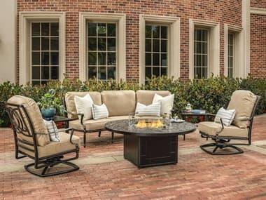 Gensun Bel Air Cast Aluminum Cushion Lounge Set GESBELARFRPLNGSET