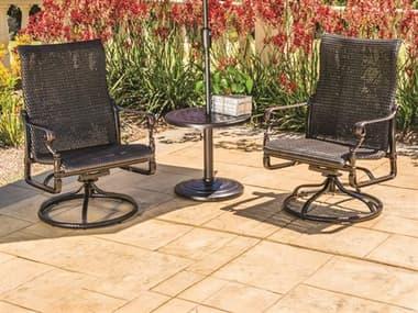 Gensun Grand Terrace Woven Cast Aluminum Lounge Set GESGRNDTRRCEWVNDPLNGSET