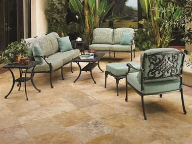 Gensun Michigan Deep Seating Cast Aluminum Lounge Set GESMCHGNLNGSET