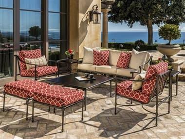 Gensun Morro Bay Cast Aluminum Cushion Lounge Set GESMRROBAYLNGSET