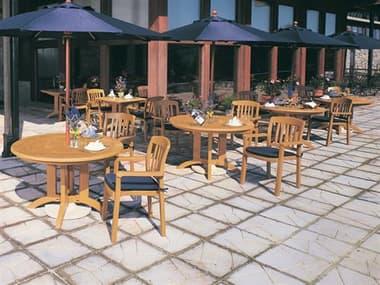 Grosfillex Atlantic Classic Resin Teakwood Dining Set GXATLNTCCLSCDINSET