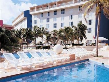 Grosfillex Bahia Resin White Lounge Set GXBAHAILNGSET10