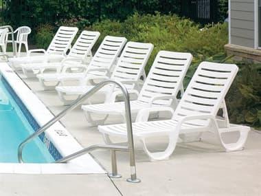 Grosfillex Bahia Resin White Lounge Set GXBAHAILNGSET2