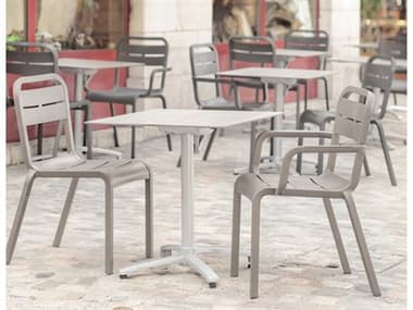Grosfillex Cannes Resin French Taupe Dining Set GXCNNESDINSET1