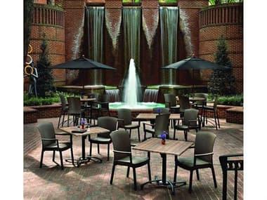 Grosfillex Havana Classic Aluminum Espresso Dining Set GXHVANADINSET