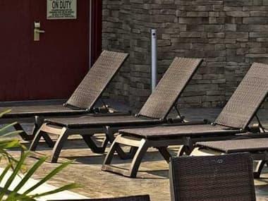 Grosfillex Java Resin Bronze Mist Lounge Set in Espresso GXJAVALNGSET