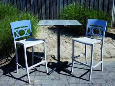 Grosfillex Moon Resin Denim Blue/Linen Bar Set GXMOONBARSET