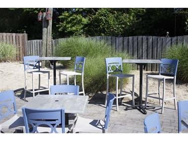 Grosfillex Moon Resin Denim Blue/Linen Bar Set GXMOONBARSET1