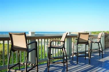 Grosfillex Sunset Fusion Bronze Aluminum Sling Bar Chair Set GXSNSTBRCHRSET