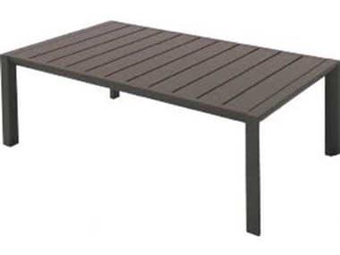 Grosfillex Sunset Aluminum Fusion Bronze 40''W x 24''D Rectangular Coffee Table GXUS004599