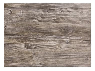 Grosfillex Hpl Resin Vintage Pine 32''W x 24''D Rectangular Table Top with Rails GXUS24H245