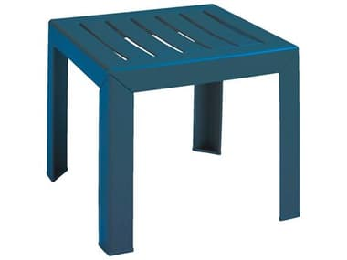 Grosfillex Westport Resin Barn Blue 16'' Wide Square End Table GXUS445747