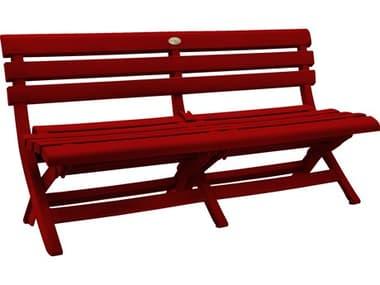 Grosfillex Westport Resin Barn Red Bench GXUS449748