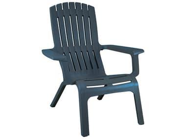 Grosfillex Westport Resin Barn Blue Adirondack Chair GXUS450747